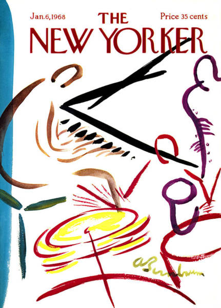 6 Photograph - The New Yorker Cover - January 6th, 1968 by Conde Nast