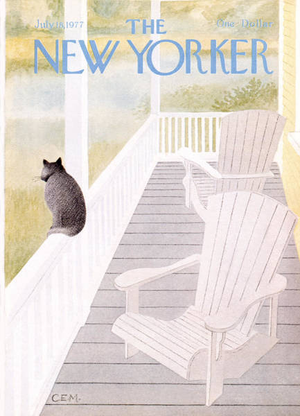 Houses Photograph - The New Yorker Cover - July 18th, 1977 by Charles E Martin