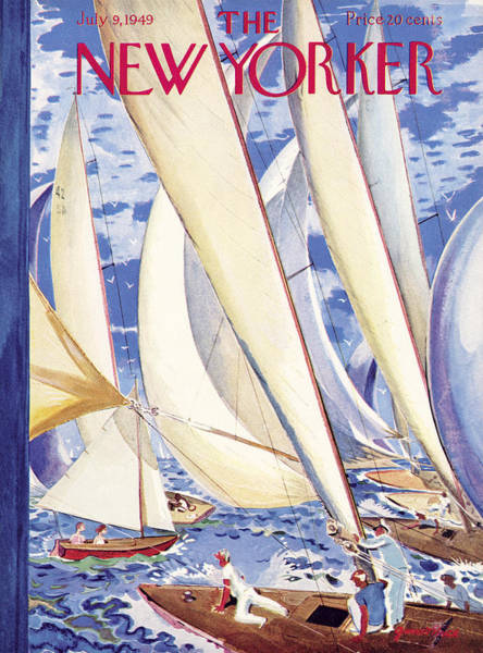 Sailing Photograph - The New Yorker Cover - July 9, 1949 by Garrett Price