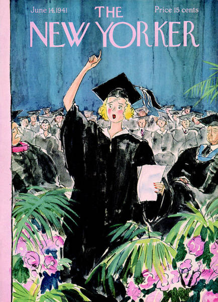 Graduation Painting - The New Yorker Cover - June 14th, 1941 by Perry Barlow