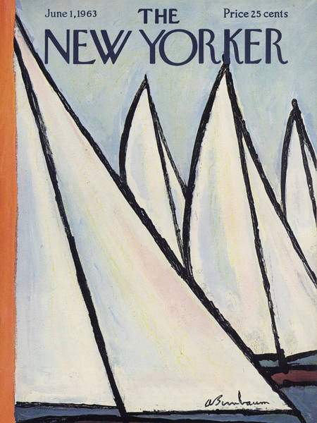 Summer Painting - The New Yorker Cover - June 1st, 1963 by Abe Birnbaum