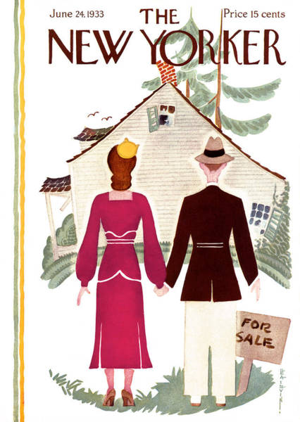 Houses Painting - New Yorker Cover - June 24th, 1933 by Rea Irvin