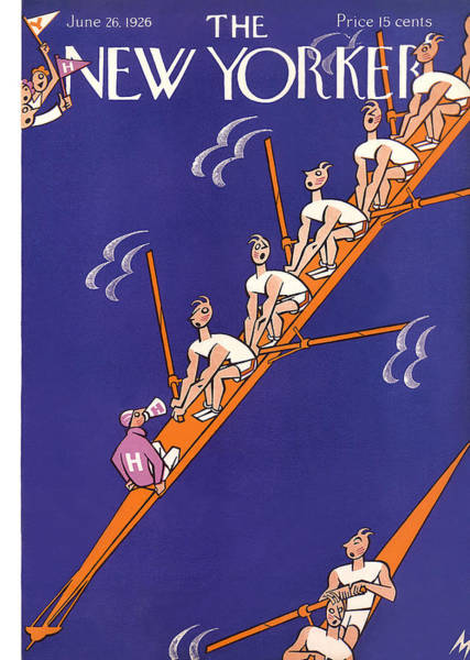 Rowing Photograph - The New Yorker Cover - June 26th, 1926 by Julian de Miskey