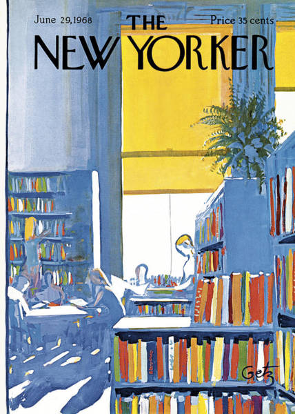 Reading Painting - New Yorker June 29th 1968 by Arthur Getz