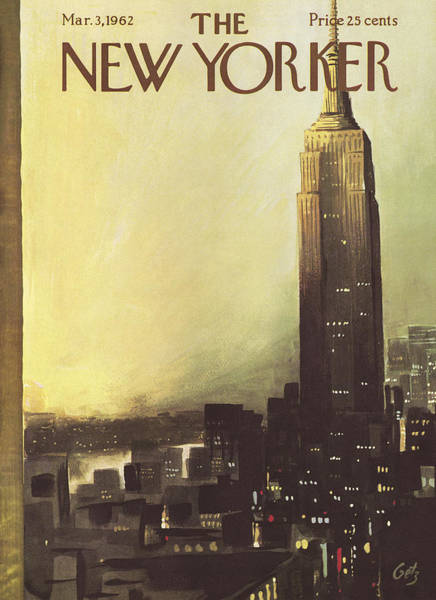 March 3rd Painting - The New Yorker Cover - March 3rd, 1962 by Arthur Getz