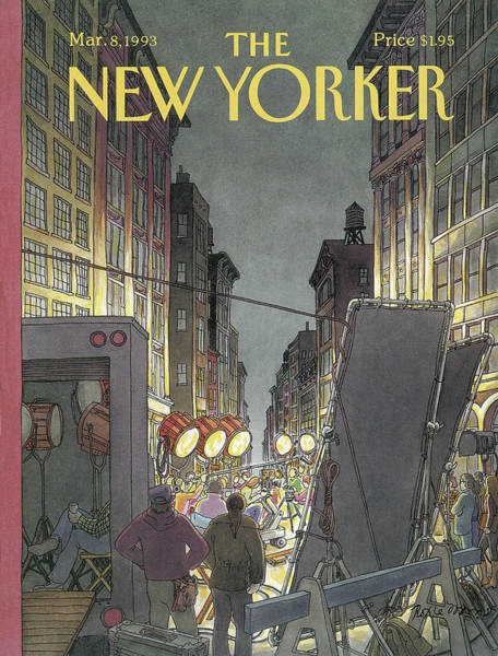 Light Painting - The New Yorker Cover - March 8th, 1993 by Roxie Munro