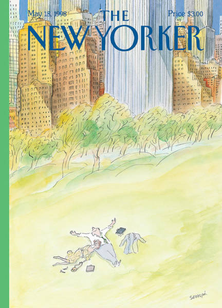 View Painting - The New Yorker Cover - May 18th, 1998 by Jean-Jacques Sempe