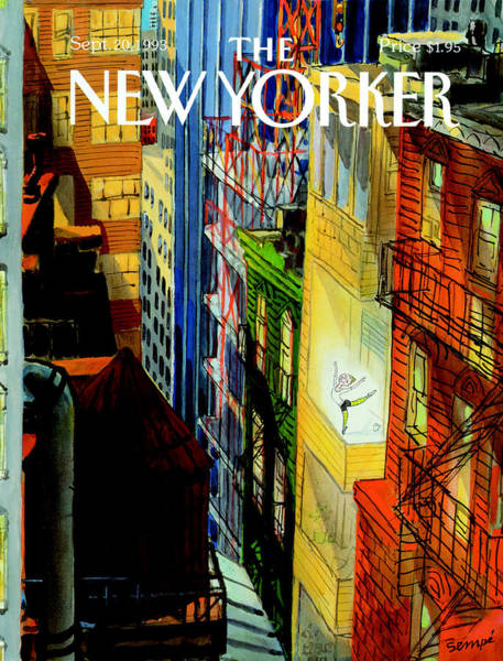Terrace Photograph - The New Yorker Cover - September 20th, 1993 by Jean-Jacques Sempe
