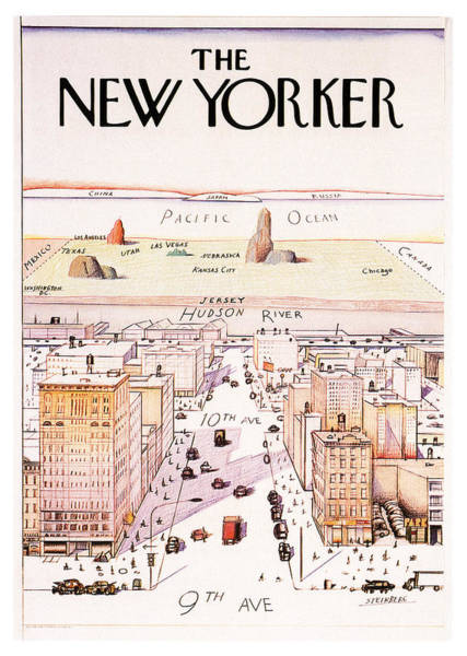 Office Decor Mixed Media - The New Yorker - Magazine Cover - Vintage Art Nouveau Poster by Studio Grafiikka