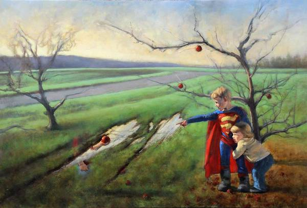 Apple Tree Painting - the Newcomer by Joshua Smith