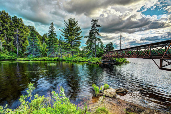 Photograph - The Nicks Lake Footbridge by David Patterson