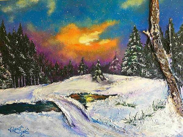 11x14 Painting - A Night Before Christmas by Viktoriya Sirris