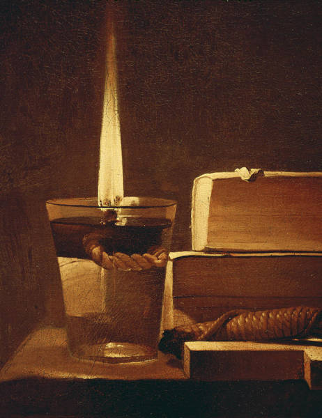 Night Life Painting - The Night Light by Georges de la Tour