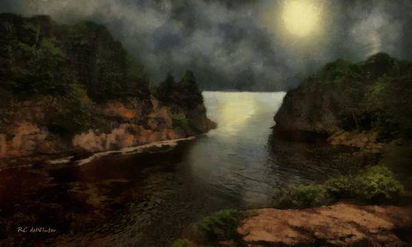 Painting - The Night Of The Strawberry Moon by RC DeWinter