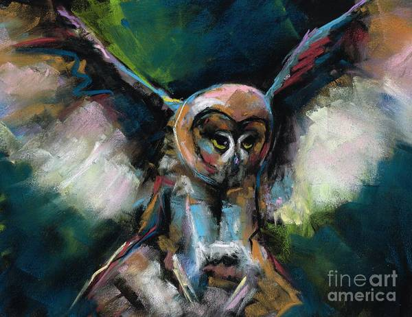 Wall Art - Painting - The Night Owl by Frances Marino