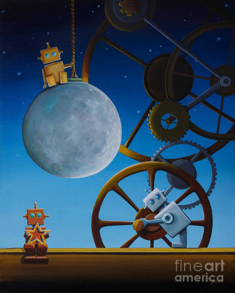 Steampunk Painting - The Night Shift by Cindy Thornton