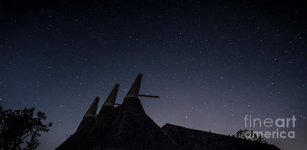 Photograph - The Night Sky, Great Dixter Oast And Barn by Perry Rodriguez
