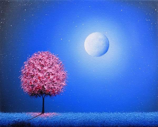 Full Moon Painting - The Night We Sing by Rachel Bingaman