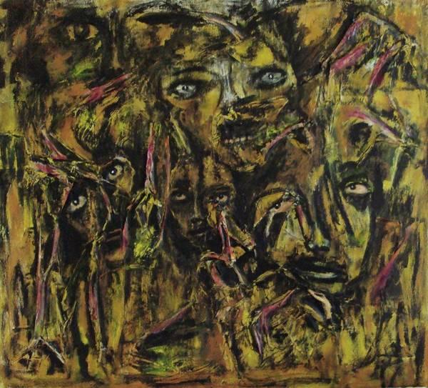 Painting - The Nightmare Of Violence by Katerina Apostolakou