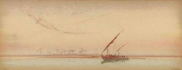Philae Painting - The Nile At Philae by Augustus Osborne