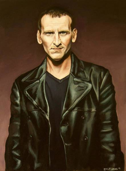 Bbc Painting - The Ninth Doctor by Emily Jones