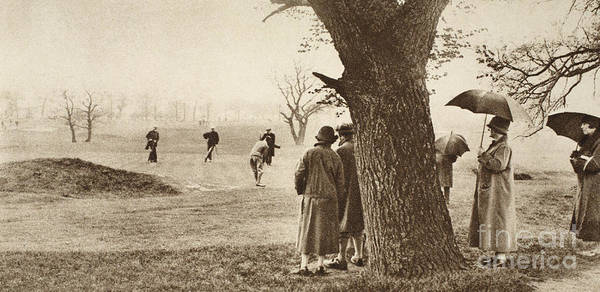 Elm Tree Photograph - The Ninth Green At Tooting Bec Golf Course by English School