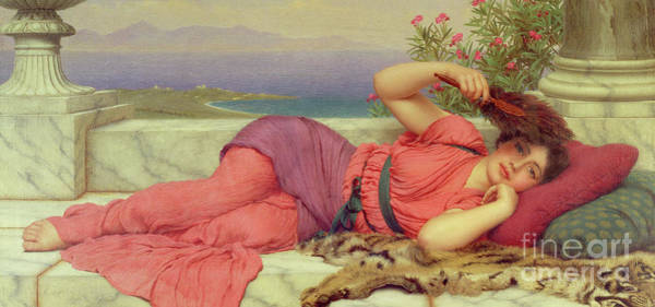 Wall Art - Painting - The Noonday Rest by John William Godward
