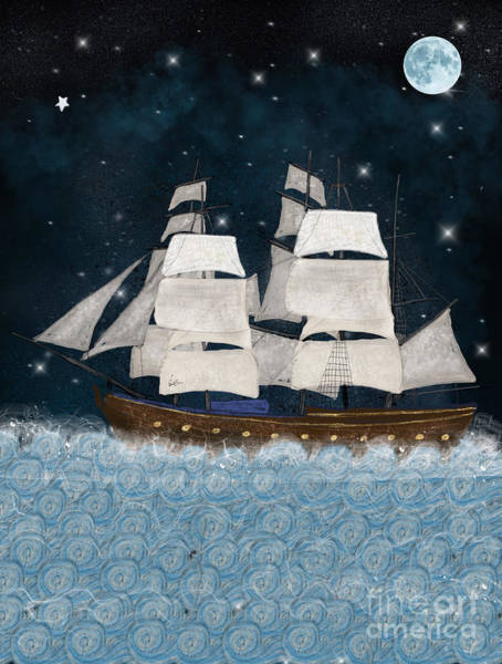 Tall Ships Wall Art - Painting - The North Star by Bri Buckley