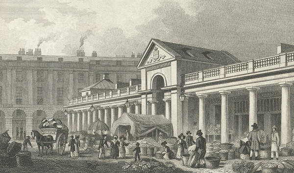 Cart Drawing - The North West Facade Of The New Covent Garden Market by Thomas Hosmer Shepherd