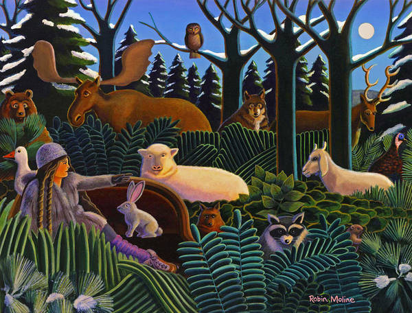 Wall Art - Painting - The North Woods Dream by Robin Moline