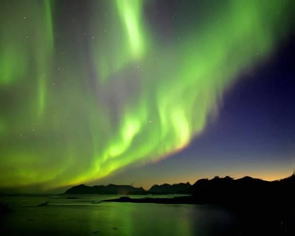 Aurora Borealis Painting - The Northern Lights by Wayne Bonney