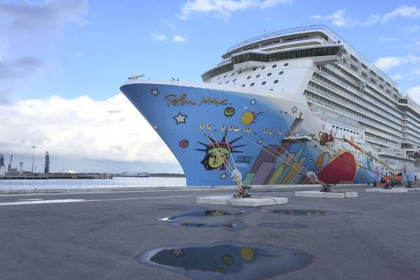 Photograph - The Norwegian Breakaway At Dock by Bradford Martin