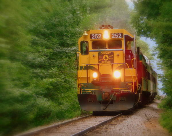Vintage Conway Photograph - The Notch Train by Karen Cook