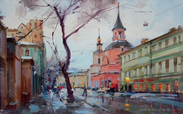 Late Painting - The November Thaw. New Basmannaya by Alexey Shalaev