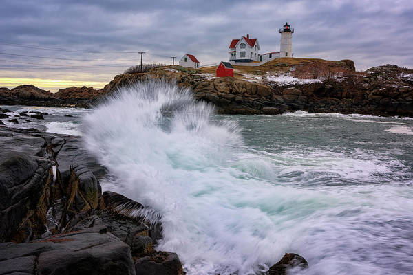 Wall Art - Photograph - The Nubble After A Storm by Rick Berk