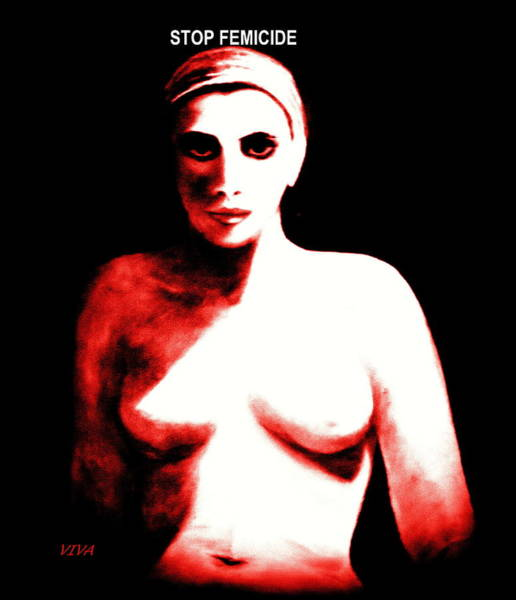 Photograph - The Nude - Red by VIVA Anderson