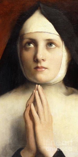 Devotion Wall Art - Painting - The Nun La Religieuse  Detail by Jose Frappa