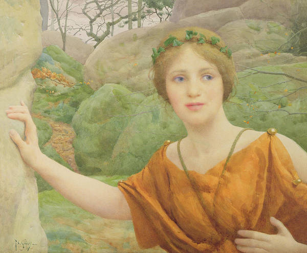 Dryad Wall Art - Painting - The Nymph by Thomas Cooper Gotch