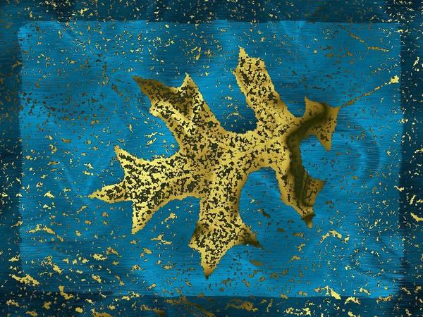 Oak Digital Art - The Oak Leaf And The Wind Storm by Tim Allen