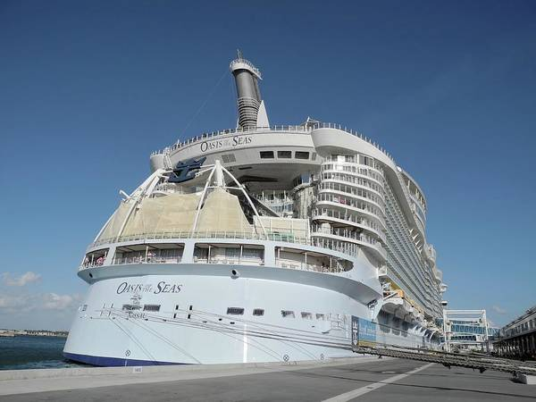 Photograph - The Oasis Of The Seas At Port Canaveral by Bradford Martin