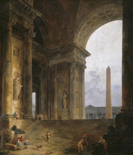 Archway Painting - The Obelisk by Hubert Robert