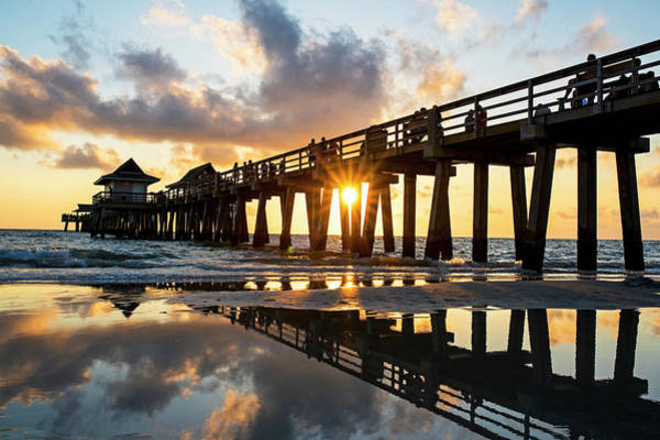 Photograph - Naples Pier At Sunset Naples Florida by Toby McGuire