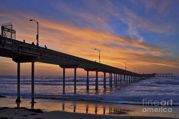 Photograph - The Ocean Beach Pier Under A Colorful Sunset by Sam Antonio Photography