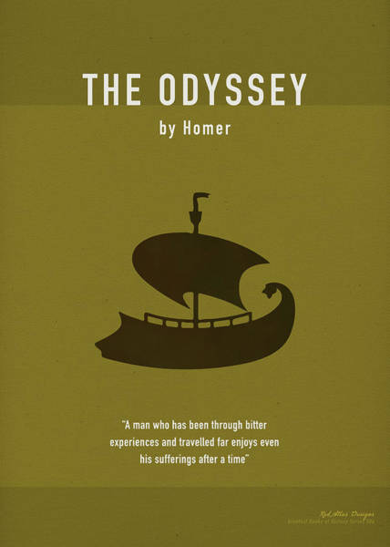 Greek Mixed Media - The Odyssey Greatest Books Ever Series 006 by Design Turnpike