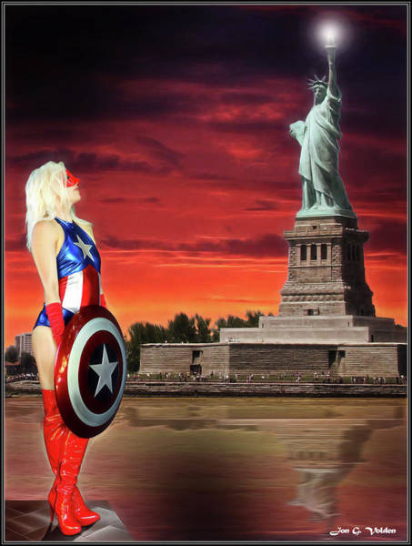 Photograph - Shield Of Liberty by Jon Volden
