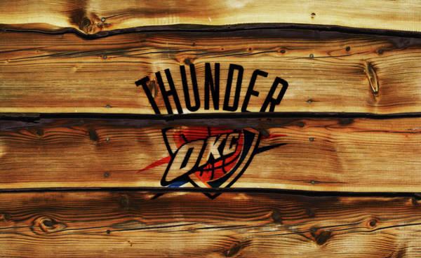 Mavericks Mixed Media - The Oklahoma City Thunder 2w           by Brian Reaves