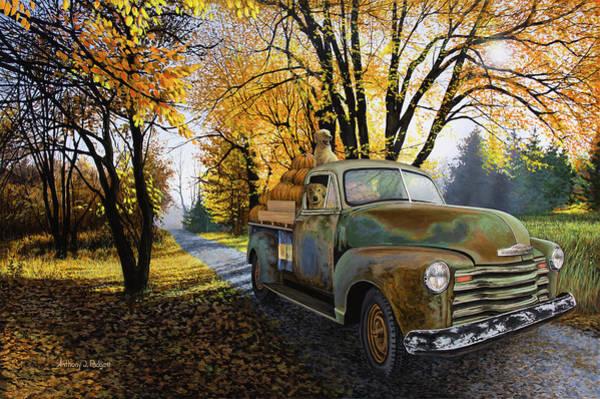 Painting - The Ol' Pumpkin Hauler by Anthony J Padgett