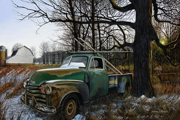 Painting - The Ol' Work Truck by Anthony J Padgett