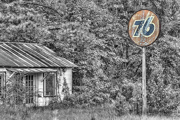 Photograph - The Old 76 Gas Station by JC Findley