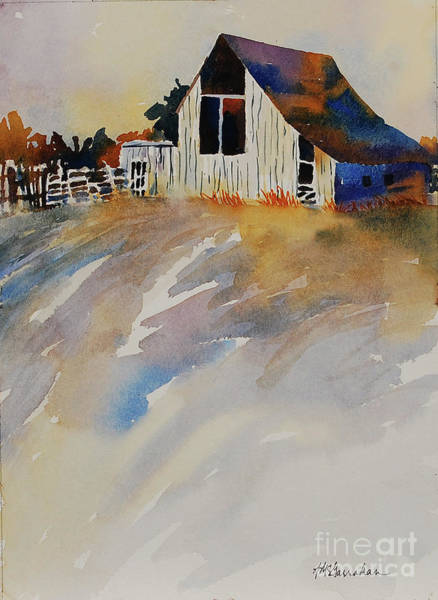 Wall Art - Painting - The Old Barn by Annette McGarrahan